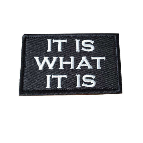It is What It is Funny Morale Hook & Loop Patch - Trump Mug