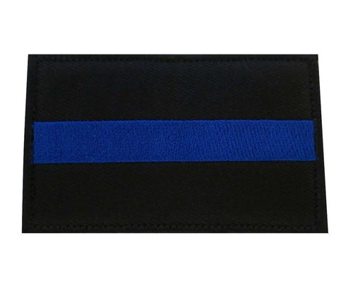 Thin Blue Line Flag Police Law Enforcement Sheriff Tactical Hook & Loop Patch - Trump Mug