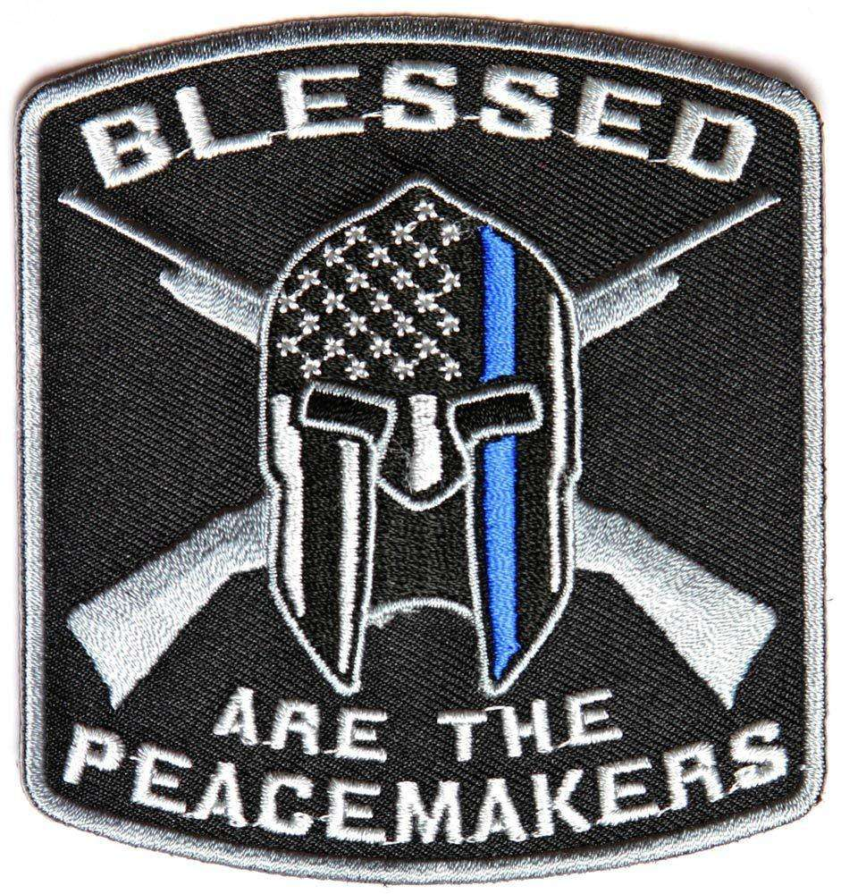 Blessed Are The Peacemakers Thin Blue Line Morale Tactical Hook & Loop Patch Support Police Law Enforcement - Trump Mug