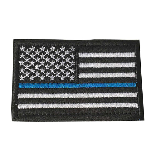 Thin Blue Line USA Flag Patch Tactical American Police Law Enforcement Hook & Loop Patch - Trump Mug