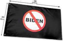 Load image into Gallery viewer, Anti-Biden No Biden 3x5 Feet MAGA Trump Banner Flag
