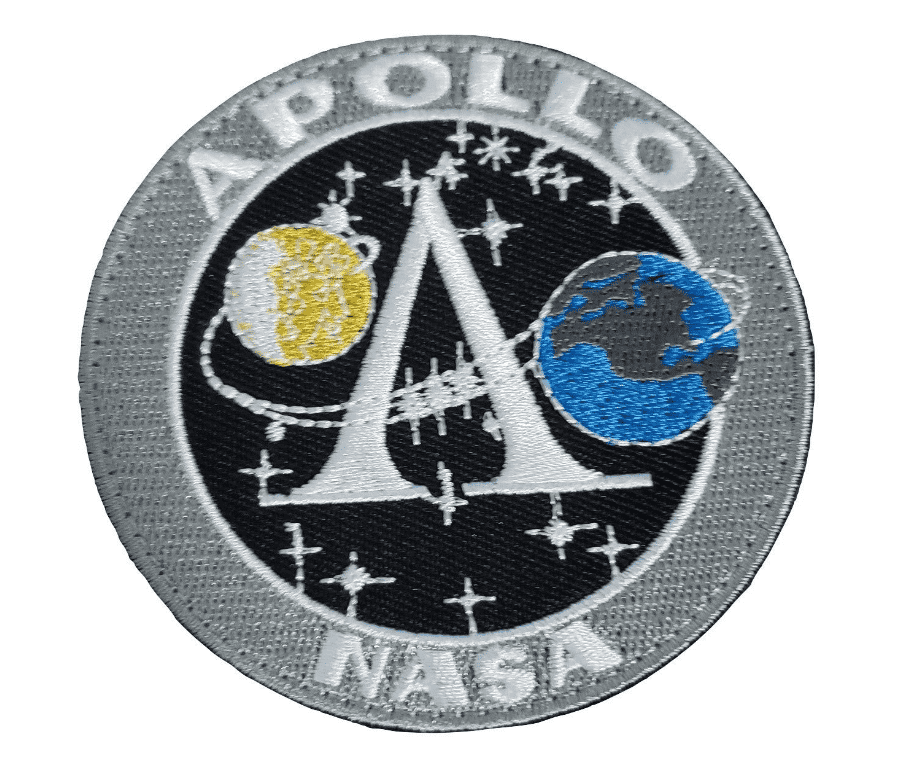 NASA Apollo Space Mission Earth Moon Embroidered Hook and Loop Patch - Trump Mug