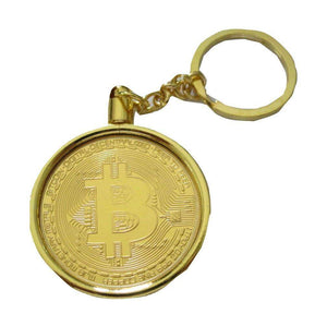 Bitcoin Physical Display Metal Novelty Keyring Keychain - Trump Mug