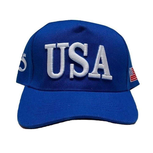 USA 45 MAGA Make America Great Again Donald Trump USA Flag Baseball Cap Hat BLUE - Trump Mug