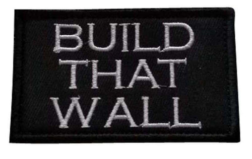 Build That Wall Make America Great Again MAGA Donald Trump Hook & Loop Patch - Trump Mug