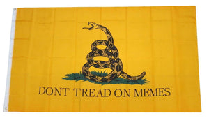 Don't Tread on Memes 3x5 Feet Gadsden Banner Flag - Trump Mug