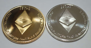 Set of Gold and Silver Plated Color Ethereum Coins ETH Physical Cryptocurrency Collectible Coins - Trump Mug