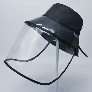 Fisherman Bucket Hat with Removable Full Face Protective Visor Shield - Trump Mug