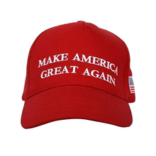 Load image into Gallery viewer, MAGA Make America Great Again Donald Trump USA Flag Baseball Cap Hat RED - Trump Mug