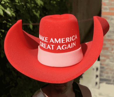 HUGE MAGA Cowboy Hat Make America Great Again Donald Trump GIANT MAGA Foam Hat - Trump Mug