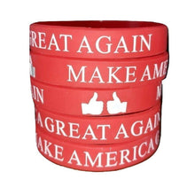 Load image into Gallery viewer, Thumbs Up Make America Great Again Donald Trump President Red Silicone Wrist Band Bracelet Wristband - Trump Mug