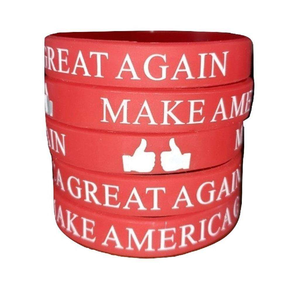 Thumbs Up Make America Great Again Donald Trump President Red Silicone Wrist Band Bracelet Wristband - Trump Mug