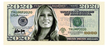 Load image into Gallery viewer, Melania Trump 2020 Presidential Dollar Bill with Currency Holder - Trump Mug