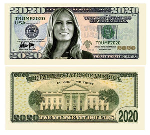 Melania Trump 2020 Presidential Dollar Bill with Currency Holder - Trump Mug
