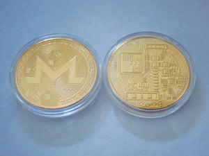 Monero Gold Plated Color Physical Coin Cryptocurrency XMR Collectible Coin - Trump Mug