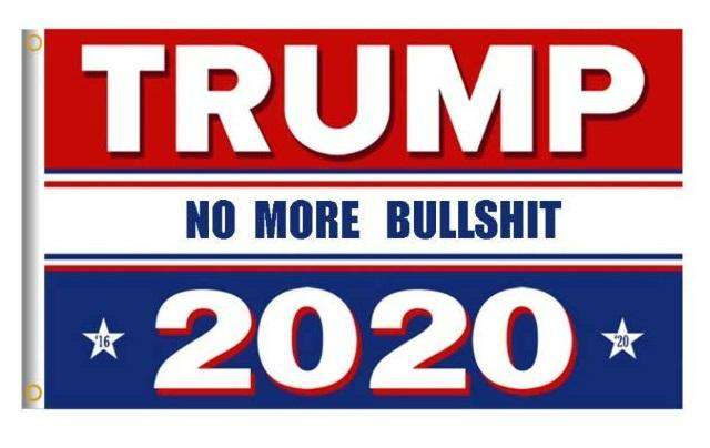 RWB Donald Trump 2020 No More BS President 3x5 Feet MAGA Banner Flag - Trump Mug