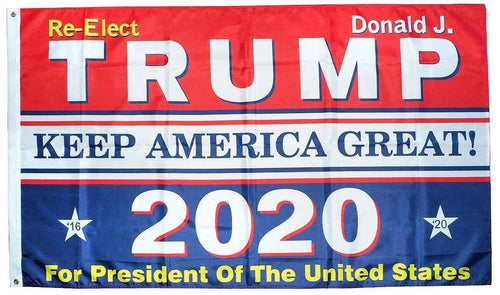 RWB Re-Elect Donald Trump Flag Keep America Great 2020 President 3x5 Feet MAGA Banner Flag - Trump Mug