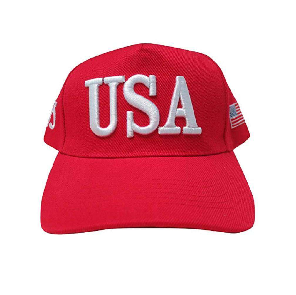 USA 45 MAGA Make America Great Again Donald Trump USA Flag Baseball Cap Hat RED - Trump Mug