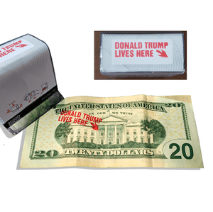 Donald Trump Lives Here Custom Self-Inking Rubber Stamp - Trump Mug