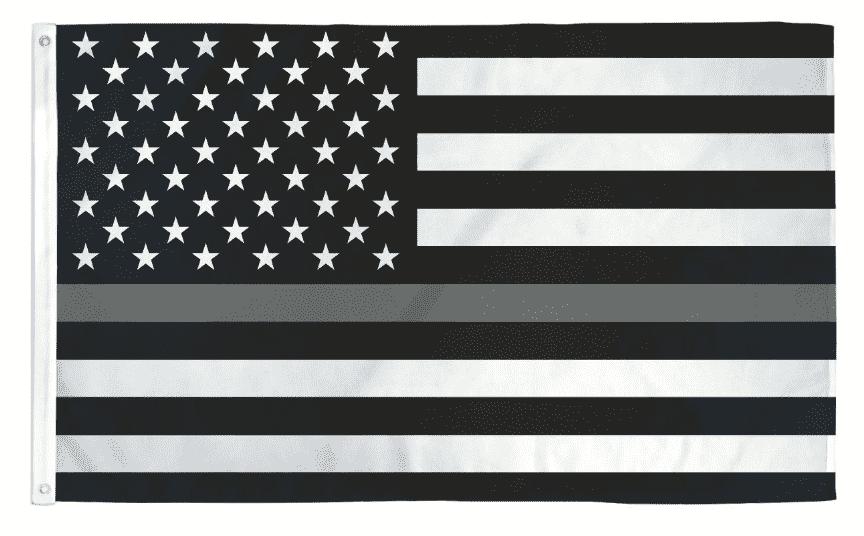 Thin Gray Silver Line USA American Law Enforcement Correctional Corrections Guards Officers 3x5 Feet Banner Flag - Trump Mug