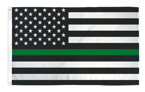 Thin Green Line USA American Flag for Army Military Sheriffs Law Enforcement Federal Agents Border Patrol Park Rangers Game Wardens Wildlife Conservation Environment 3x5 Feet Banner Flag - Trump Mug