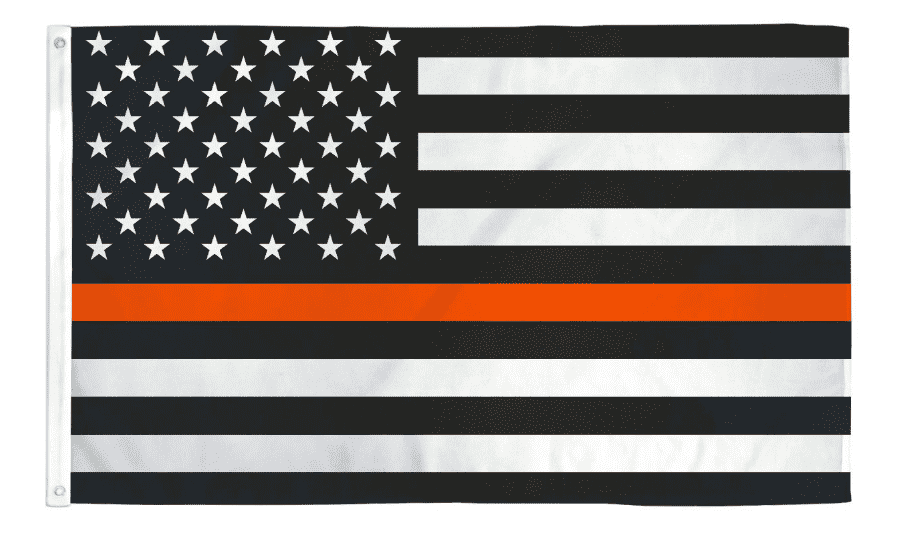 Thin Orange Line USA American Flag Search Rescue Recovery (SAR) Emergency EMS Personnel 3x5 Feet Banner Flag - Trump Mug