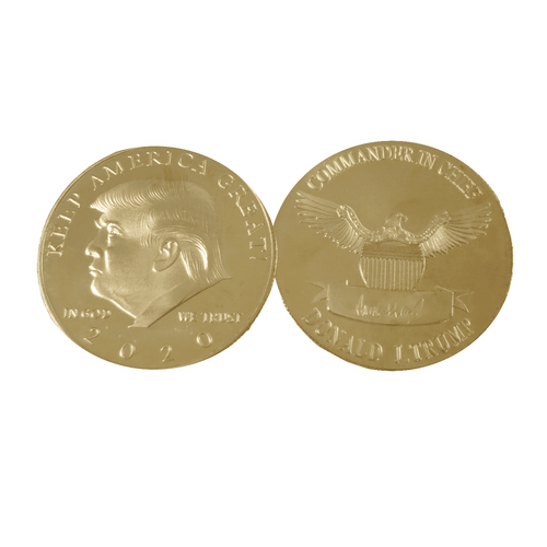 Donald Trump 2020 Keep America Great Gold Color Coin in Holder - Trump Mug