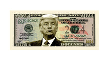 Load image into Gallery viewer, Donald Trump 2024 President Dollar Bill with Currency Holder