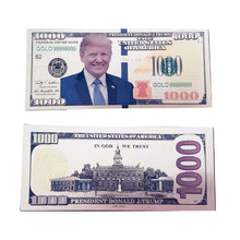 Load image into Gallery viewer, Gold Foil Donald Trump Presidential $1000 Dollar Bill with Currency Holder - Trump Mug