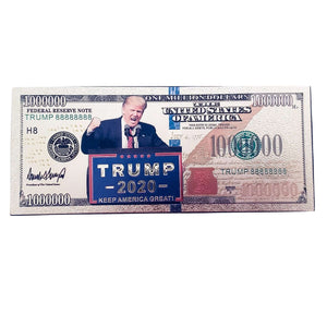 Gold Foil Donald Trump 2020 Keep America Great Presidential Million Dollar Bill with Currency Holder - Trump Mug