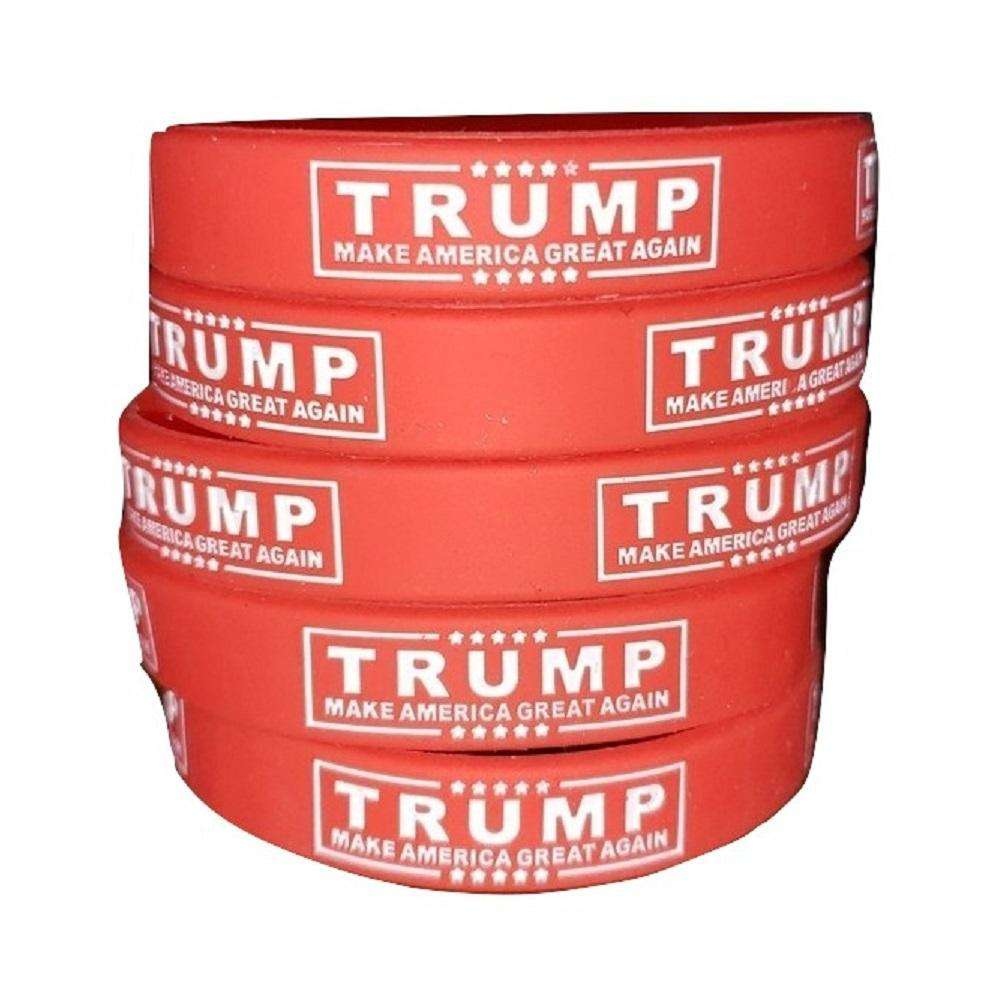 Trump Sign Make America Great Again Donald Trump President Red Silicone Wrist Band Bracelet Wristband - Trump Mug