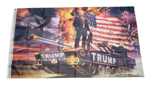 Donald Trump Tank President Patriotic USA Flag 3x5 Feet MAGA Banner Flag - Trump Mug