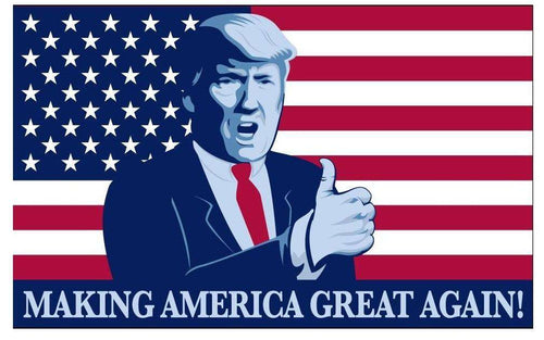 Donald Trump Thumbs Up President Make America Great Again USA 3x5 Feet MAGA Banner Flag - Trump Mug