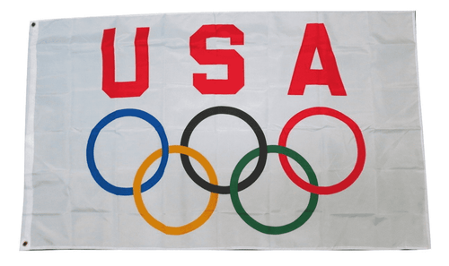 Team USA Olympic Games 3x5 Feet Flag Olympics Rings International Banner Flag - Trump Mug