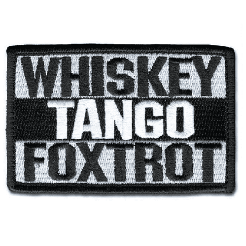 Whiskey Tango Foxtrot WTF Morale Tactical Hook & Loop Patch (White) - Trump Mug