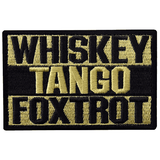 Whiskey Tango Foxtrot WTF Morale Tactical Hook & Loop Patch (Yellow) - Trump Mug