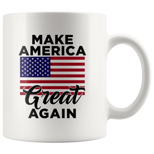 Make America Great Again MAGA USA Flag Trump Mug - Trump Mug