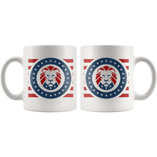 Load image into Gallery viewer, Trump MAGA Lion - USA Patriotic Red, White, Blue Mug - Trump Mug