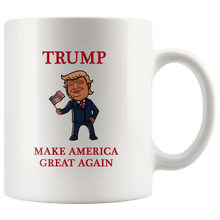 Load image into Gallery viewer, Trump Waving Flag Make America Great Again MAGA Mug - Trump Mug