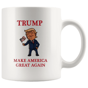 Trump Waving Flag Make America Great Again MAGA Mug - Trump Mug