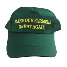 Load image into Gallery viewer, Make Our Farmers Great Again MAGA Make America Great Again Donald Trump Baseball Cap Hat GREEN - Trump Mug
