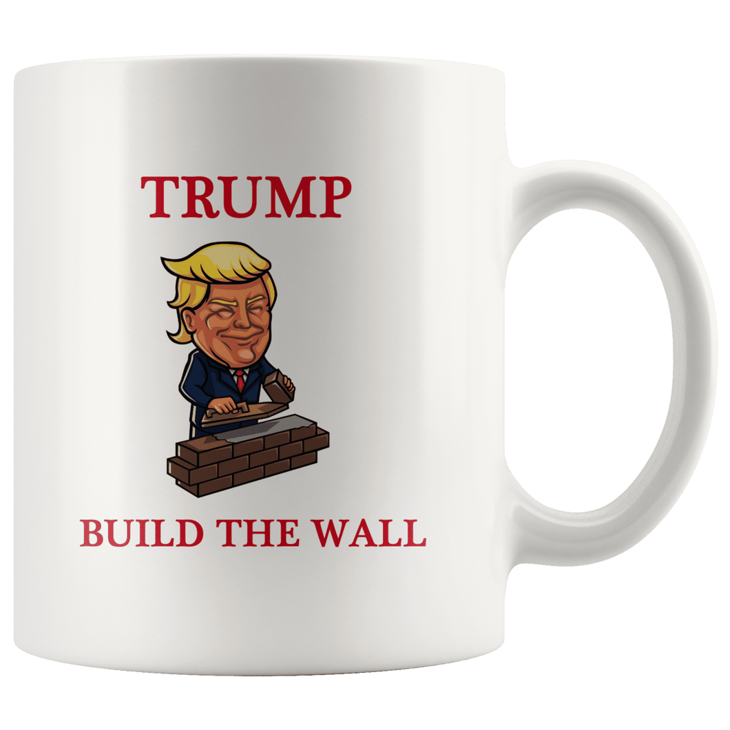 Trump Build The Wall MAGA Mug - Trump Mug
