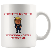 Load image into Gallery viewer, Greatest Brother Trump Thumbs Up Mug - Trump Mug