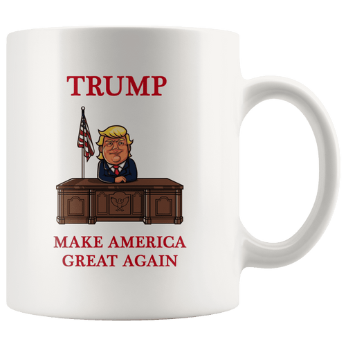 Trump Desk Make America Great Again MAGA Mug - Trump Mug