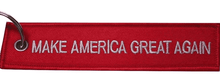 Load image into Gallery viewer, Make America Great Again MAGA Red Luggage Tag Keychain - Trump Mug