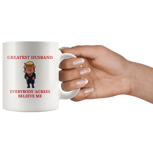 Greatest Husband Trump Thumbs Up Mug - Trump Mug
