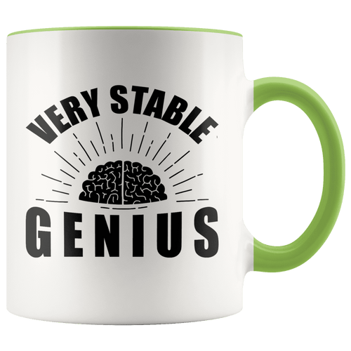 Very Stable Genius with Brain Trump MAGA Mug - Trump Mug