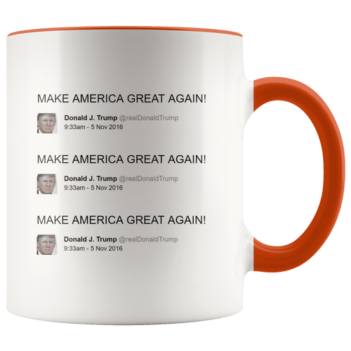 Trump Tweet - Make America Great Again! Repeating MAGA Mug - Trump Mug