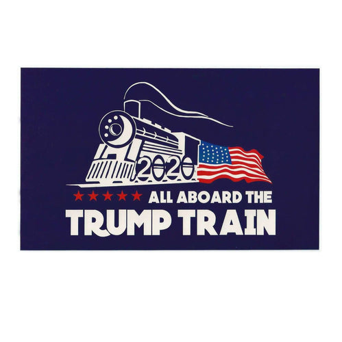 All Aboard The Trump Train 2020 MAGA Window Decal Bumper Sticker - Trump Mug