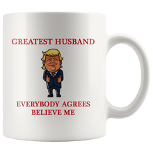Load image into Gallery viewer, Greatest Husband Trump Thumbs Up Mug - Trump Mug